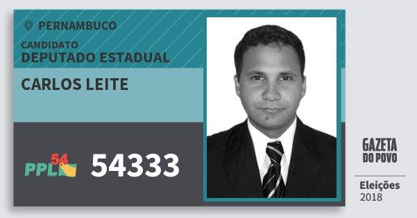Santinho Carlos Leite 54333 (PPL) Deputado Estadual | Pernambuco | Eleições 2018