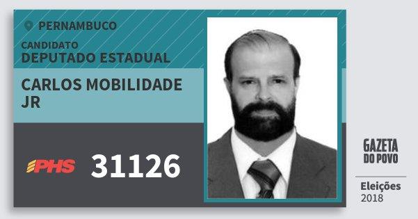 Santinho Carlos Mobilidade Jr 31126 (PHS) Deputado Estadual | Pernambuco | Eleições 2018