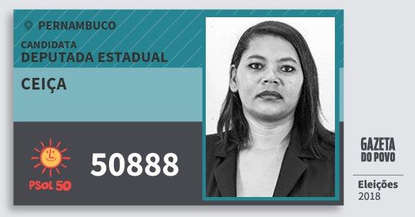 Santinho Ceiça 50888 (PSOL) Deputada Estadual | Pernambuco | Eleições 2018