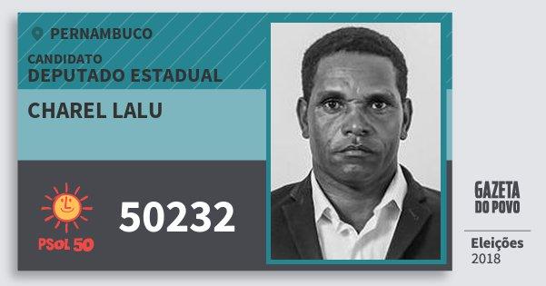 Santinho Charel Lalu 50232 (PSOL) Deputado Estadual | Pernambuco | Eleições 2018