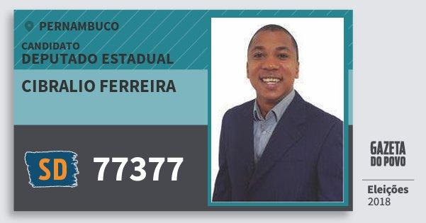 Santinho Cibralio Ferreira 77377 (SOLIDARIEDADE) Deputado Estadual | Pernambuco | Eleições 2018