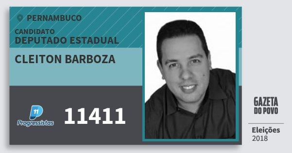 Santinho Cleiton Barboza 11411 (PP) Deputado Estadual | Pernambuco | Eleições 2018