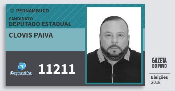 Santinho Clovis Paiva 11211 (PP) Deputado Estadual | Pernambuco | Eleições 2018