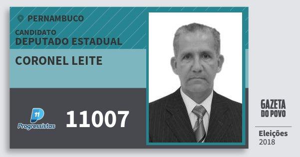 Santinho Coronel Leite 11007 (PP) Deputado Estadual | Pernambuco | Eleições 2018