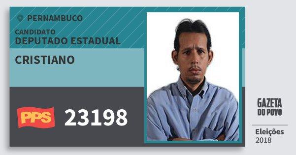 Santinho Cristiano 23198 (PPS) Deputado Estadual | Pernambuco | Eleições 2018