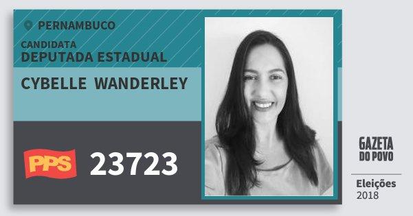 Santinho Cybelle  Wanderley 23723 (PPS) Deputada Estadual | Pernambuco | Eleições 2018