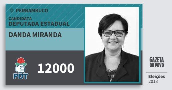 Santinho Danda Miranda 12000 (PDT) Deputada Estadual   Pernambuco   Eleições 2018