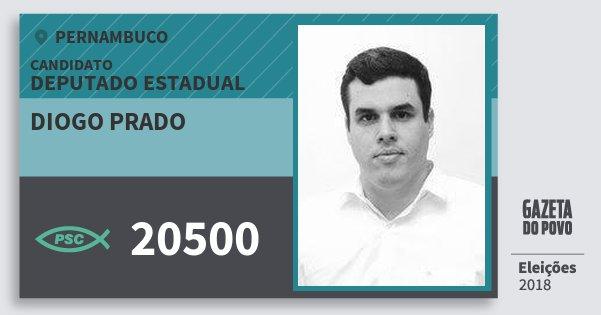 Santinho Diogo Prado 20500 (PSC) Deputado Estadual | Pernambuco | Eleições 2018