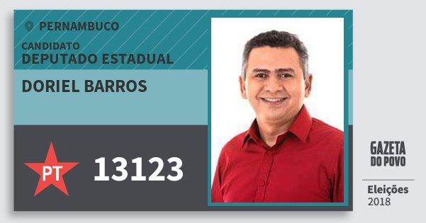 Santinho Doriel Barros 13123 (PT) Deputado Estadual | Pernambuco | Eleições 2018