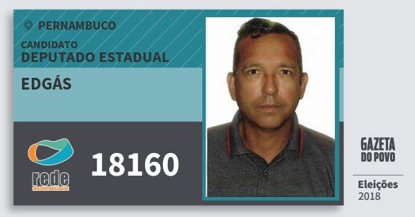 Santinho Edgás 18160 (REDE) Deputado Estadual | Pernambuco | Eleições 2018