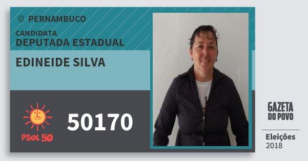 Santinho Edineide Silva 50170 (PSOL) Deputada Estadual | Pernambuco | Eleições 2018