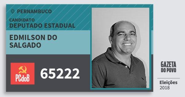 Santinho Edmilson do Salgado 65222 (PC do B) Deputado Estadual | Pernambuco | Eleições 2018