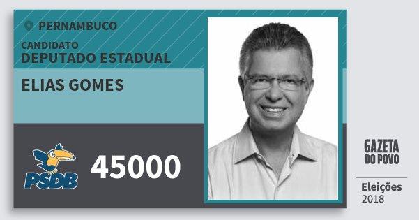 Santinho Elias Gomes 45000 (PSDB) Deputado Estadual | Pernambuco | Eleições 2018