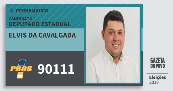 Santinho Elvis da Cavalgada 90111 (PROS) Deputado Estadual | Pernambuco | Eleições 2018