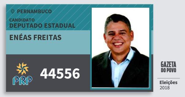 Santinho Enéas Freitas 44556 (PRP) Deputado Estadual | Pernambuco | Eleições 2018