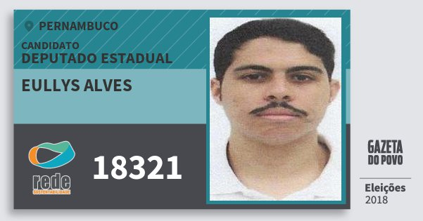 Santinho Eullys Alves 18321 (REDE) Deputado Estadual | Pernambuco | Eleições 2018