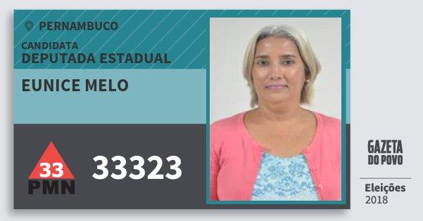 Santinho Eunice Melo 33323 (PMN) Deputada Estadual | Pernambuco | Eleições 2018
