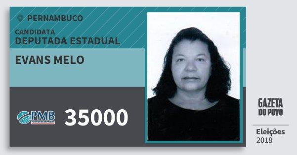 Santinho Evans Melo 35000 (PMB) Deputada Estadual | Pernambuco | Eleições 2018