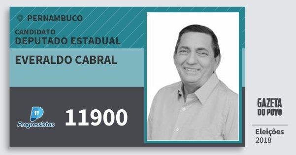 Santinho Everaldo Cabral 11900 (PP) Deputado Estadual | Pernambuco | Eleições 2018
