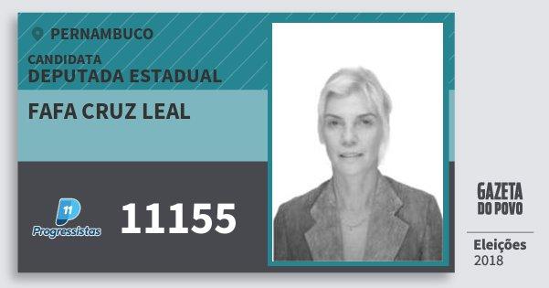 Santinho Fafa Cruz Leal 11155 (PP) Deputada Estadual | Pernambuco | Eleições 2018