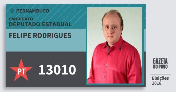 Santinho Felipe Rodrigues 13010 (PT) Deputado Estadual | Pernambuco | Eleições 2018