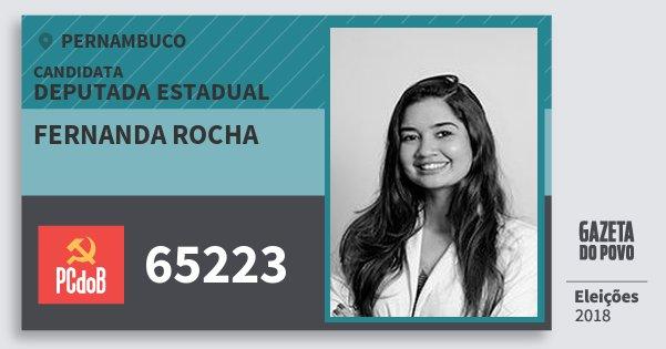 Santinho Fernanda Rocha 65223 (PC do B) Deputada Estadual | Pernambuco | Eleições 2018