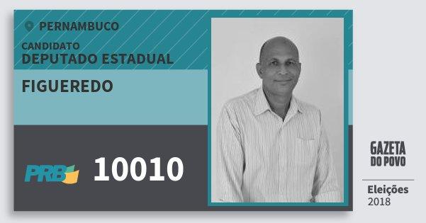 Santinho Figueredo 10010 (PRB) Deputado Estadual | Pernambuco | Eleições 2018