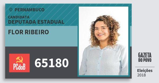 Santinho Flor Ribeiro 65180 (PC do B) Deputada Estadual | Pernambuco | Eleições 2018