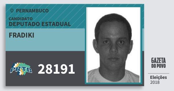 Santinho Fradiki 28191 (PRTB) Deputado Estadual | Pernambuco | Eleições 2018