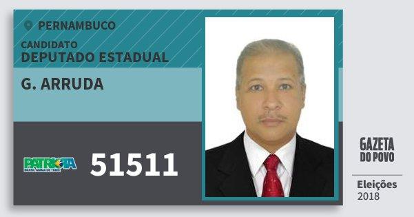 Santinho G. Arruda 51511 (PATRI) Deputado Estadual | Pernambuco | Eleições 2018