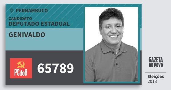 Santinho Genivaldo 65789 (PC do B) Deputado Estadual   Pernambuco   Eleições 2018