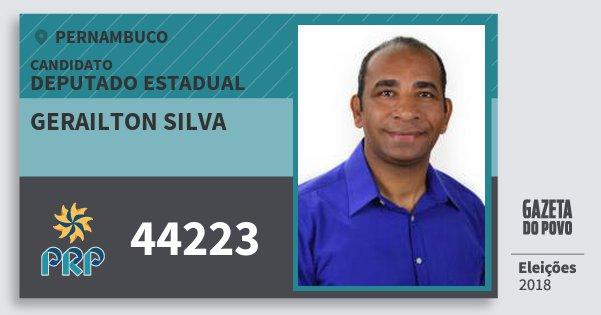 Santinho Gerailton Silva 44223 (PRP) Deputado Estadual | Pernambuco | Eleições 2018