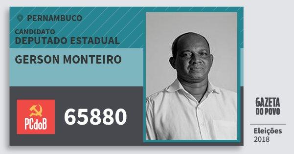 Santinho Gerson Monteiro 65880 (PC do B) Deputado Estadual | Pernambuco | Eleições 2018