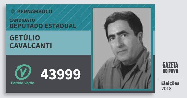 Santinho Getúlio Cavalcanti 43999 (PV) Deputado Estadual | Pernambuco | Eleições 2018