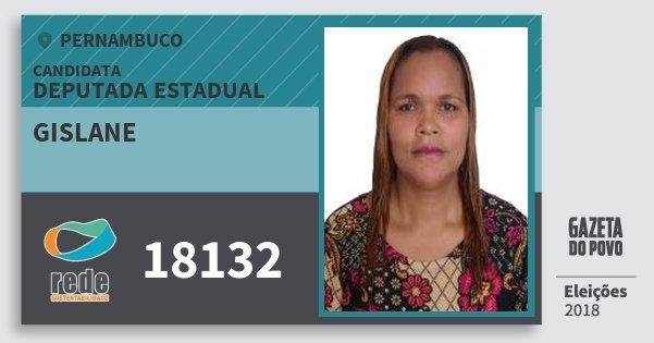 Santinho Gislane 18132 (REDE) Deputada Estadual | Pernambuco | Eleições 2018
