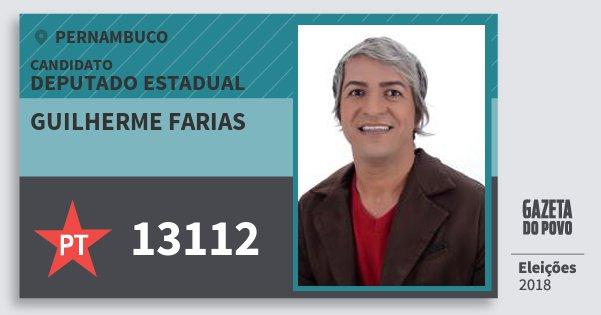 Santinho Guilherme Farias 13112 (PT) Deputado Estadual | Pernambuco | Eleições 2018