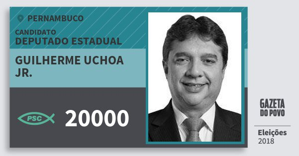 Santinho Guilherme Uchoa Jr. 20000 (PSC) Deputado Estadual | Pernambuco | Eleições 2018
