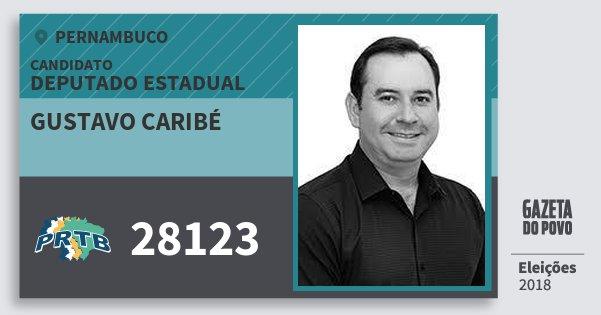 Santinho Gustavo Caribé 28123 (PRTB) Deputado Estadual | Pernambuco | Eleições 2018