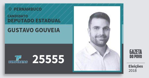 Santinho Gustavo Gouveia 25555 (DEM) Deputado Estadual   Pernambuco   Eleições 2018