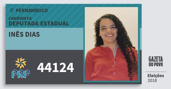 Santinho Inês Dias 44124 (PRP) Deputada Estadual | Pernambuco | Eleições 2018