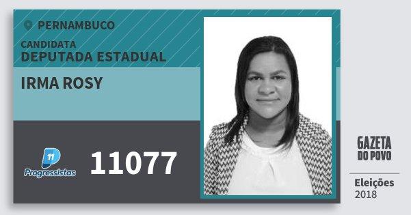 Santinho Irma Rosy 11077 (PP) Deputada Estadual | Pernambuco | Eleições 2018