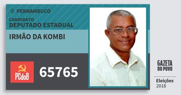 Santinho Irmão da Kombi 65765 (PC do B) Deputado Estadual | Pernambuco | Eleições 2018