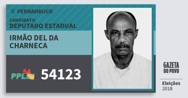 Santinho Irmão del da Charneca 54123 (PPL) Deputado Estadual | Pernambuco | Eleições 2018