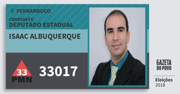 Santinho Isaac Albuquerque 33017 (PMN) Deputado Estadual | Pernambuco | Eleições 2018