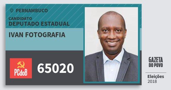 Santinho Ivan Fotografia 65020 (PC do B) Deputado Estadual | Pernambuco | Eleições 2018