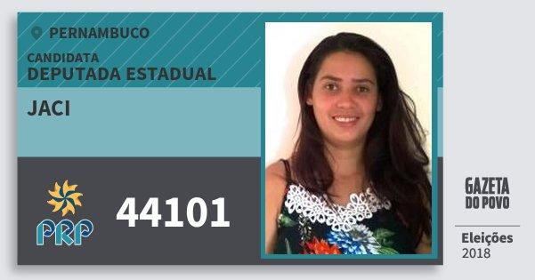 Santinho Jaci 44101 (PRP) Deputada Estadual | Pernambuco | Eleições 2018