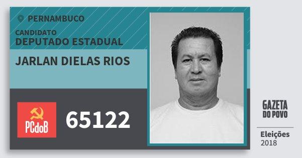 Santinho Jarlan Dielas Rios 65122 (PC do B) Deputado Estadual | Pernambuco | Eleições 2018