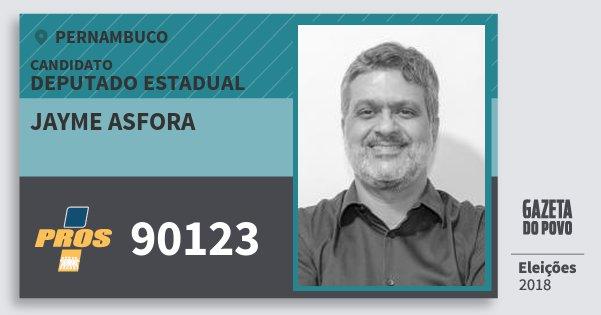 Santinho Jayme Asfora 90123 (PROS) Deputado Estadual | Pernambuco | Eleições 2018