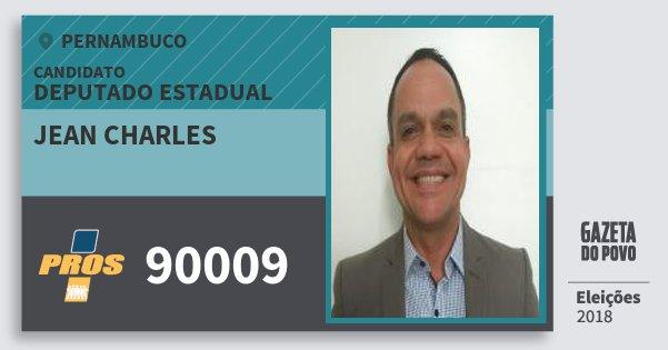 Santinho Jean Charles 90009 (PROS) Deputado Estadual | Pernambuco | Eleições 2018