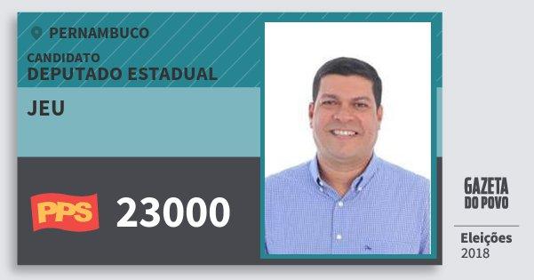Santinho Jeu 23000 (PPS) Deputado Estadual | Pernambuco | Eleições 2018